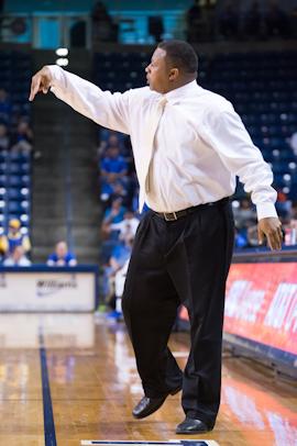 Haskell head coach Matthew Downing, Jr.