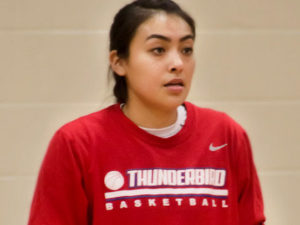 Briana Clah (Navajo) a transfer from Mesa Community College.